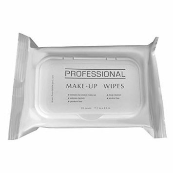 A World Of Wipes Professional Make-Up Remover Wipes, 25-Count Container (4 Packs)