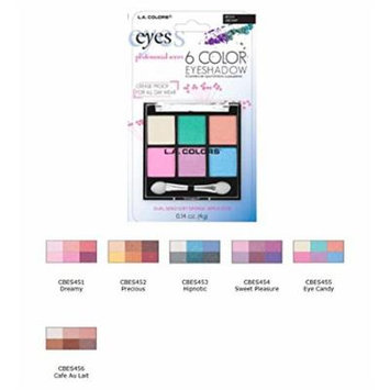 Blister 6 Color Eye Shadow Eye Candy, Case of 12
