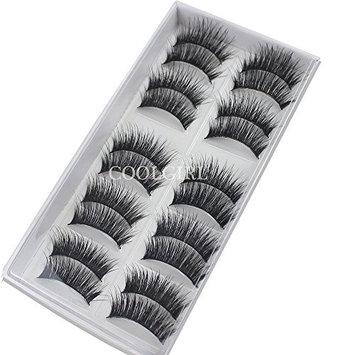 COOLGIRL 10 Pairs Long Cross False Eyelashes Makeup Natural 3D Fake Thick Black Eye Lashes Icycheer Soft Fake Lash
