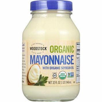 Woodstock Mayonnaise - Organic - with Organic Soybean Oil - Jar - 32 oz - case of 12 - Gluten Free - Non GMO