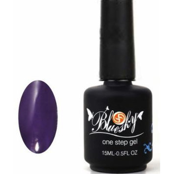Bluesky UV/LED One Step Gel Nail Polish, Smooth Purple 15 ml by Blue Sky