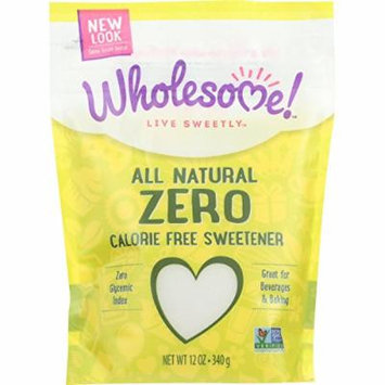 Wholesome Sweeteners Sweetener - All Natural - Calorie Free - Zero - Pouch - 12 oz - case of 8 - Gluten Free - Vegan