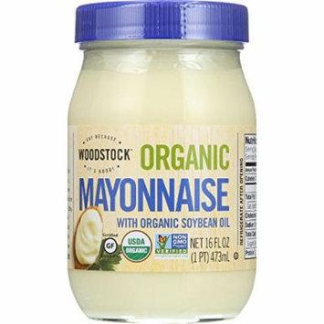 Woodstock Vegetarian Mayonnaise - Organic - with Organic Soybean Oil - Jar - 16 oz - case of 12 - Gluten Free - Non GMO