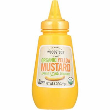 Woodstock Organic Yellow Mustard - 8 oz - case of 12 - Gluten Free - Vegan - Non GMO
