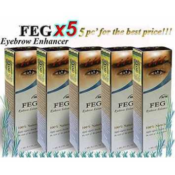 5 X FEG Eyebrow Enhancer Growth Liquid/Serum. 100% Original with Anti-Fake sticker!!!