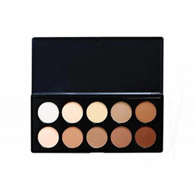 Crown Brushes 10 Colour Pressed Powder Contouring Palette by Crown Brushes