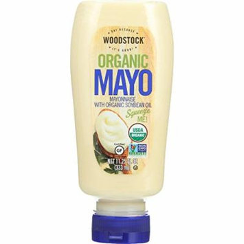 Woodstock Organic Mayonnaise - with Organic Soybean Oil - Squeezable - 11.25 oz - case of 12 - Gluten Free - Non GMO