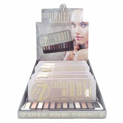 W7 Colour Me Buff Natural Nudes Eye Colour Palette Display Set, 6 Pieces Plus Display Tester
