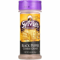 Sylvias Black Pepper - Coarse Ground - 3.25 oz - case of 12 -