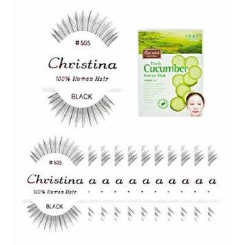 12 packs #505 Christina 100% Human Hair Fake Eyelashes