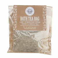 Lime Himalyan Cedarwood and Green Tea bath Tea Bag by Wild Olive