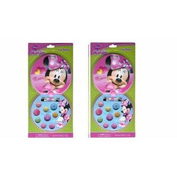 Minnie Mouse Lip Gloss Compact x 2 set by Disney