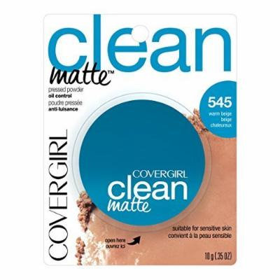 CoverGirl Clean Oil Control Pressed Powder, Warm Beige 545, 0.35 Ounce Pan (Pack of 2) by COVERGIRL