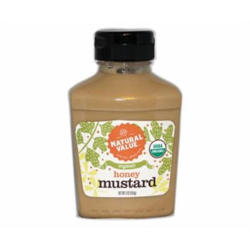 8 oz. Natural Value Organic HONEY Mustard / Case / 12ct