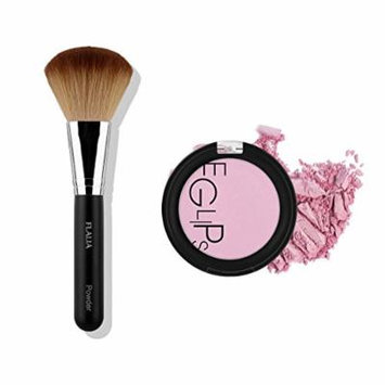 Eglipse Apple Fit Blusher and Flalia Premium Modern Brush SET Lavender Bloom + Classic Brush