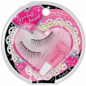 KOJI Spring Heart False Eyelashes, #4 Long and Volume, 0.5 Pound by Koji