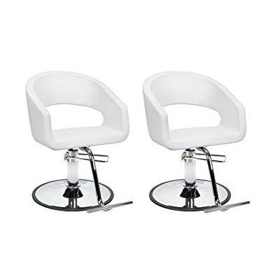 DUO Salon Styling Chair 2 TRINITY WHT for Beauty Salon Furniture