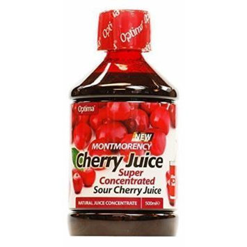 Optima Montmorency Cherry Juice Super Concentrate 500ml (6 x Packs) UK MAINLAND ONLY by Optima