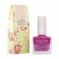 Alloya Natural Non-Toxic, Five-free, Vegan formula Nail Polish, Peel Off & floral scented, 107 Princess Aurora