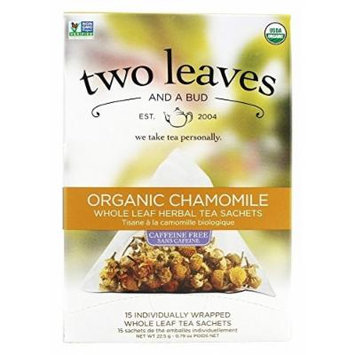 Two Leaves Tea Company - Herbal Tea Organic Chamomile - 15 Tea Bags Formerly Two Leaves and a Bud by Two Leaves Tea Company