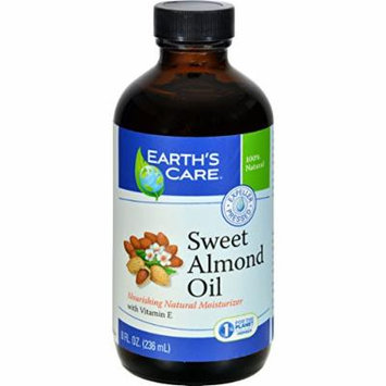 2Pack! Earth's Care 100% Pure Sweet Almond Oil - 8 fl oz