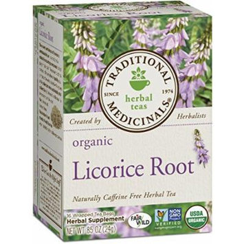 Traditional Medicinals Organic Licorice Root Tea, 16 Tea Bags (Pack of 2) by Traditional Medicinals
