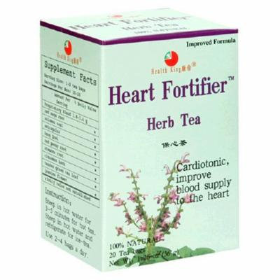 Health King Heart Fortifier Herb Tea, Teabags, 20-Count Box (Pack of 4) by Health King