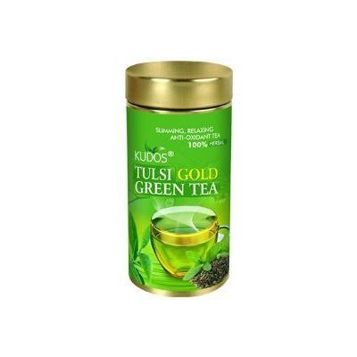 Kudos Tulsi Gold Green Tea 100Gm (Pack Of 4)