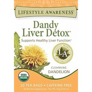 Lifestyle Awareness Teas Dandy Liver Detox Tea 20 Tea Bags Per Box by Lifestyle Awareness
