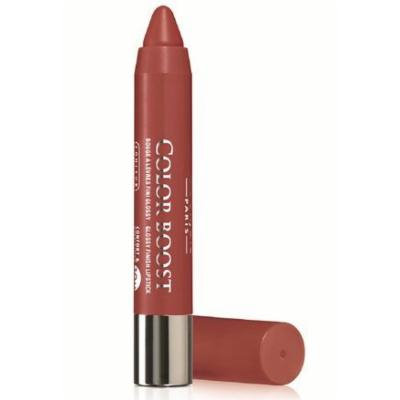 Bourjois Rouge Color Boost Glossy Finish Waterproof Lipstick Crayon 10hr SPF15 - 08 Sweet Macchiato by Bourjois