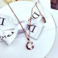 Generic Korean fashion simple _and_ sweet flower single _spiral_drill_ short _amount_ossicular_ chain _lock_ women girl Korean clothing accessories