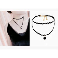 Generic Neck _and_ neck jewelry chain necklace pendant European _and_ American decorative straps _sexy_ black lace collar women girl neckband Double -k