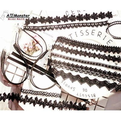 Generic neckband neck collar women girl _tide_ neck chain necklace pendant Korea clavicle short black lace _k