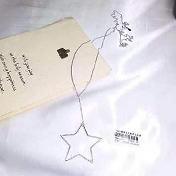 Generic s925 silver Korean fashion simple long sweater chain _exaggerated_geometric_pentagram_ necklace pendant jewelry hollow women girl