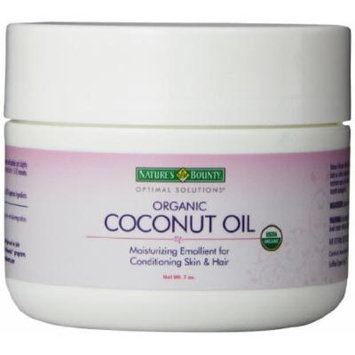 Nature's Bounty Optimal Solutions Organic Coconut Oil 7 OZ - Buy Packs and SAVE (Pack of 3)