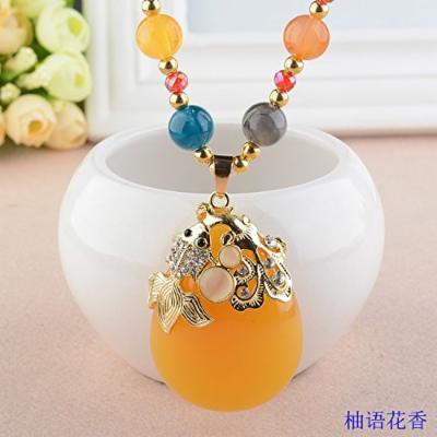 Generic Korean simple fashion temperament long sweater chain necklace pendant Korean fashion accessories