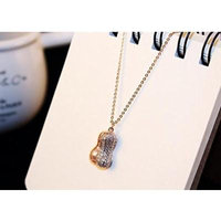 Generic You_are_my_ Korean _high-grade_ diamond necklace pendant _of_ Natural pearl s_peanut_Taobao_a_generation_of_fat_09