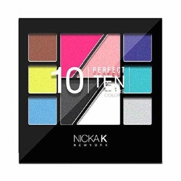 (6 Pack) NICKA K Eyeshadow Perfect 10 colors AP022
