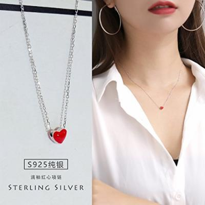 Generic Simple_aospheric_ sterling silver women girl models Korean students Cute sweet necklace pendant accessories clavicle _luxurious_ summer fashion