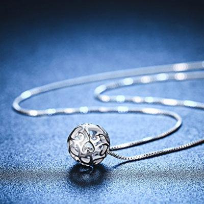 Generic Ilo_ pendant necklace Korean accessories hollow _idler_ 925 _pass_the_transport_ chain clavicle simple _aromatic_ silver _subclavian