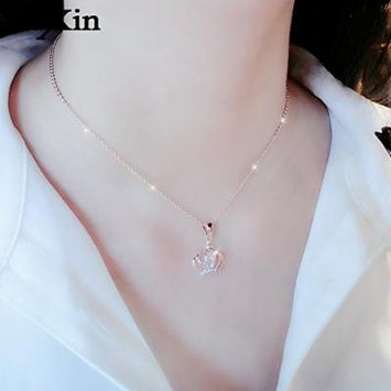 Generic 2018 popular _trend_s 999 _pure_ love pendant necklace women girl _roses_send_ women girl clavicle chain