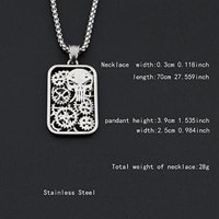 Generic See_description_of_ 2018 steel pendant necklace accessories _in_ Europe _and_ America long _section_of_ men man boy personality Korean couple necklace pendant _gear