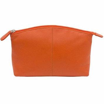 Large Leather Cosmetic Make-up Case (Orange)