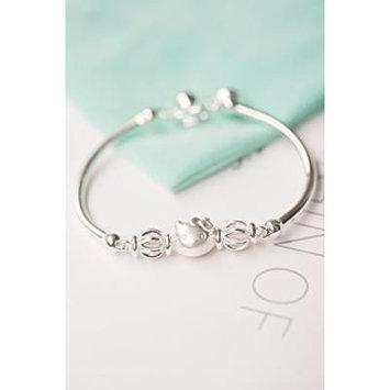 Generic 990-foot_ silver _k_transit_ bracelet bangle s
