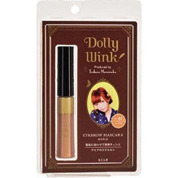 DOLLY WINK Koji Eyebrow Mascara, 01 Maple, 0.5 Pound by Dolly Wink