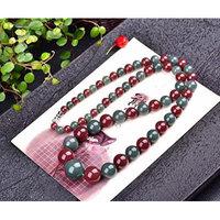 Generic Natural _pretty_ color _purple_ green _Manao_Ta_boutique_ chain necklace pendant