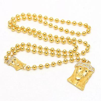 Generic The_size_of_the_ ball _6_bis_Jesus_rosary_ chain necklace pendant _nightclub_rare_s_