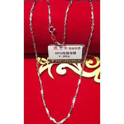 Generic Sizhe_authentic_Hong_Kong_store_JLF_1.2_ s925 sterling silver _square_snake_grain_ necklace pendant