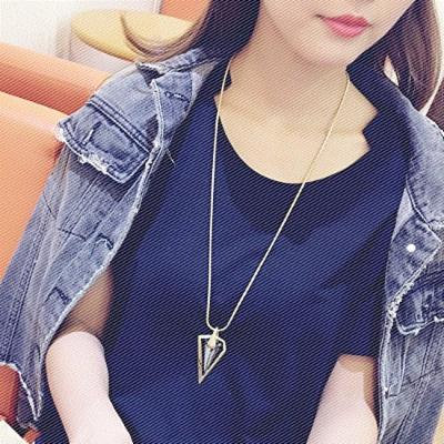 Generic Korean fashion _trends_fall_and_ winter sweater chain long _section_of_ fashion lovely pendant necklace women girl Korean accessories _Decorations