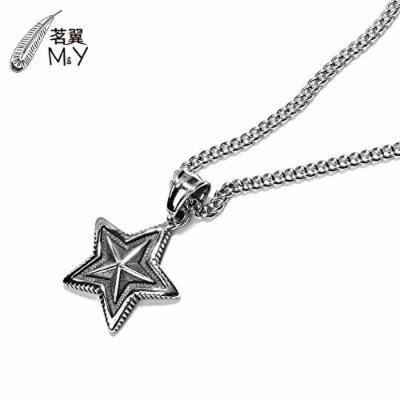Generic _ steel men man boy _pentagram_ pendant necklace _Japan_and_South_ Korea long _section_ retro _domineering_ personality _influx_of_ people fashion accessories